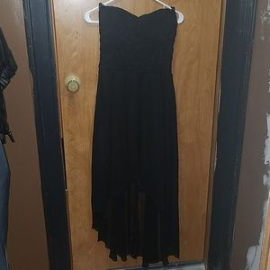 Deb Strapless Lacetop Black Dress